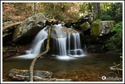 Waterfall on Dry Creek in Greene County, Tennessee