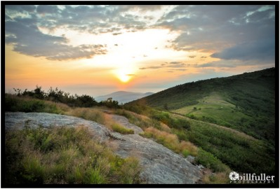 Sunrise from Jane Bald in the Roan Highlands